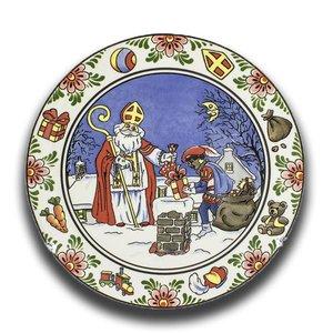 Typisch Hollands Wandbord Sinterklaas Farbe