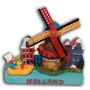 Typisch Hollands Holland tafereel Stadsmolen