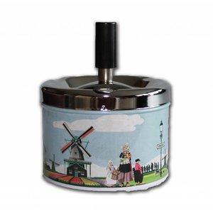 Typisch Hollands Aschenbecher - Drücken und Drehen (Mills)