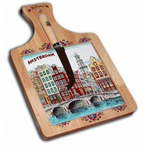 Typisch Hollands Käsebrett mit großen Messer Amsterdam