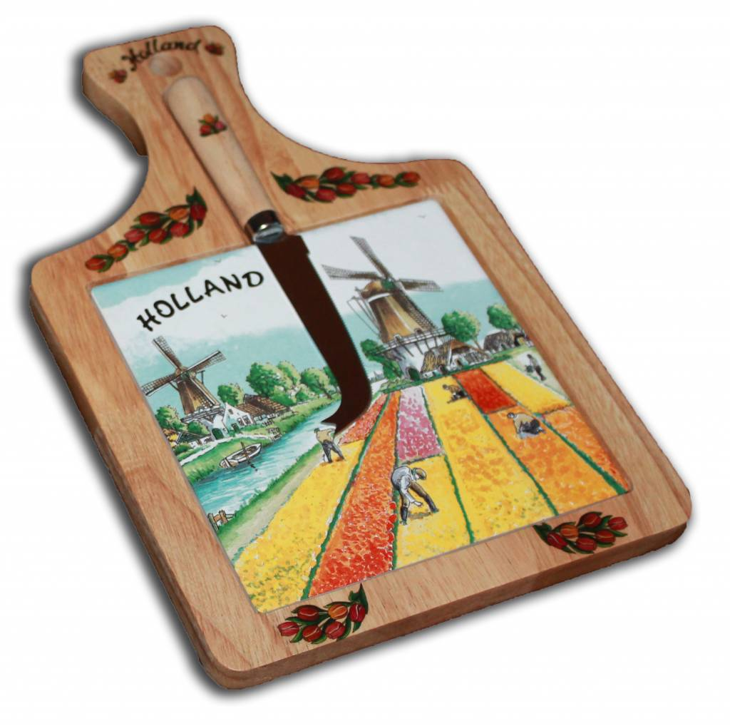 cheese board tulips windmills holland worldwide shipping. Black Bedroom Furniture Sets. Home Design Ideas