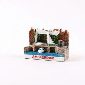 Typisch Hollands Magnet Miniatur Amsterdam
