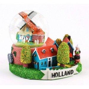 Typisch Hollands Dorf mit Schnee-Szene 10 cm
