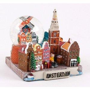 Typisch Hollands Sneeuwbol met Stads-tafereel 7 cm