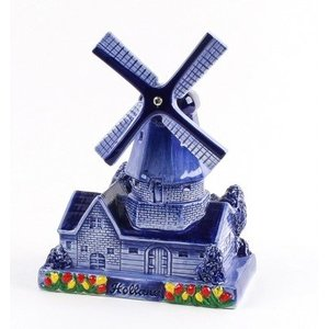 Typisch Hollands Theorem Windmühle Delfter Blau
