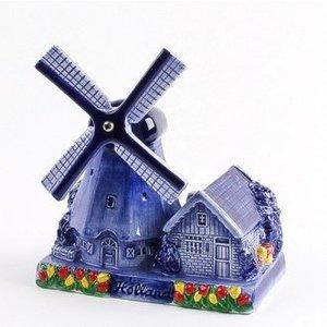 Typisch Hollands Poldermolen Delfts Blauw