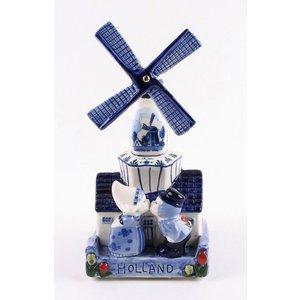 Typisch Hollands Delft Blue Mill mit Musik ♫