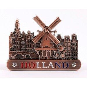 Typisch Hollands Metall-Magnet - Amsterdam