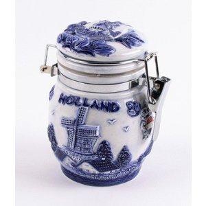 Typisch Hollands Delfts blauwe weckpot 10 cm Holland