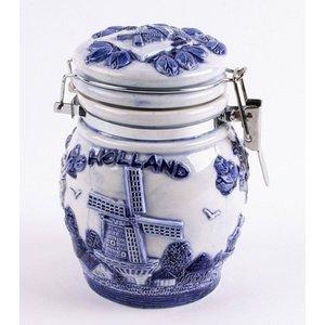 Typisch Hollands Delft blau weckpot 14 cm Holland