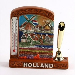 Typisch Hollands Stifthalter - mit Thermometer