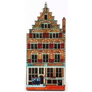 Typisch Hollands Magneet Grachtenhuisje Amsterdam