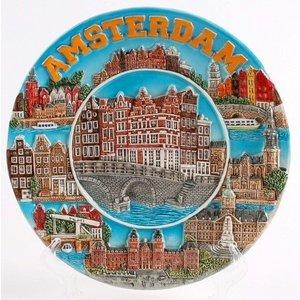 Typisch Hollands Wandbord Amsterdam