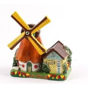 Typisch Hollands Poldermolen - Keramiek - Color 14 cm