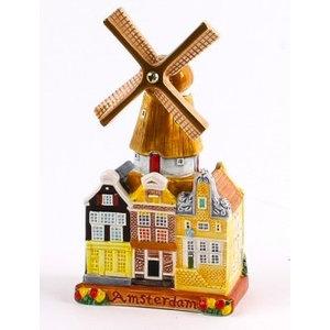 Typisch Hollands Stadsmolen - Keramiek - Color 14 cm