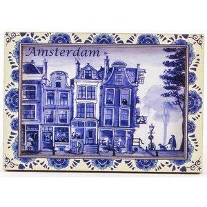 Typisch Hollands Magnet - Amsterdam - Delfter