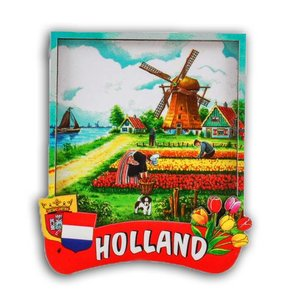 Typisch Hollands Magnet 2D Holland Tulpen pluckers