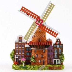 Typisch Hollands Magnet-Stadt-Mühle