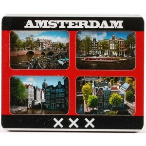 Typisch Hollands Magnet Amsterdam - Mixed pictures