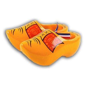 Typisch Hollands Houten klompjes - Geel boerenbies - 14 cm
