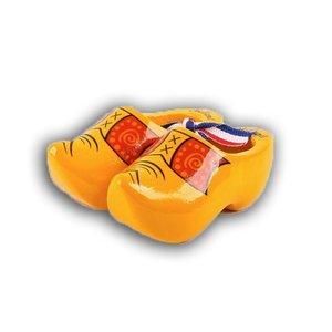 Typisch Hollands Houten klompjes - Geel boerenbies - 8cm