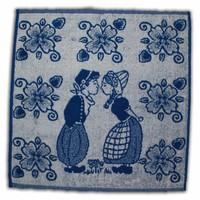 Typisch Hollands Küchentuch Blau - Küssen der Paare