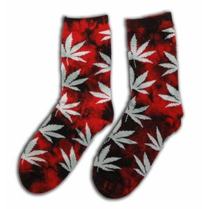 Robin Ruth Fashion Socken - Cannabis - Back / Red