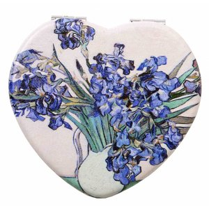 Robin Ruth Fashion Mirror Box Heart Shape Irises