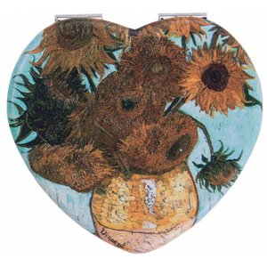 Robin Ruth Fashion Mirror Box Heart Shape Sunflowers