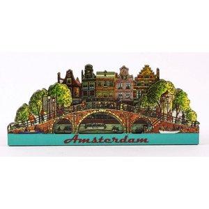 Typisch Hollands Magnet 2D-Brücke Amsterdam