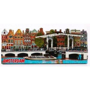 Typisch Hollands Magnet 2D-dünne Brücke Amsterdam