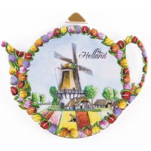 Typisch Hollands Teabag - Saucer - Tulpen - Windmühle