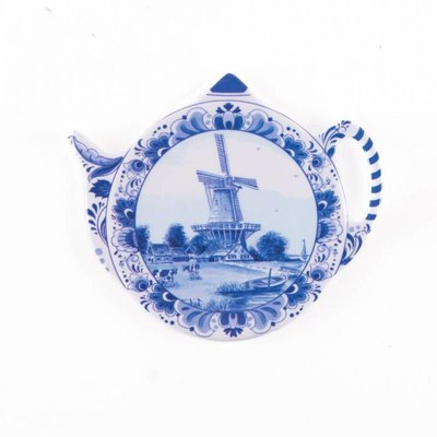 Typisch Hollands Teabag - Saucer - Delft - Windmühle