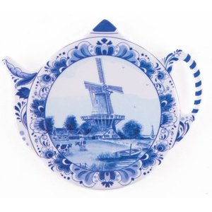 Typisch Hollands Teabag - Saucer - Delft - Windmill