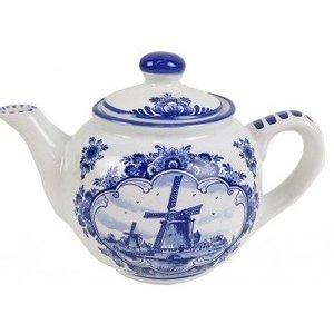 Typisch Hollands Teekanne - Delfter Blau