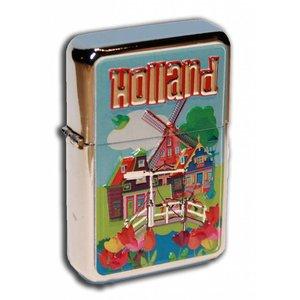 Typisch Hollands Zipper-Benzinfeuerzeug Holland Village