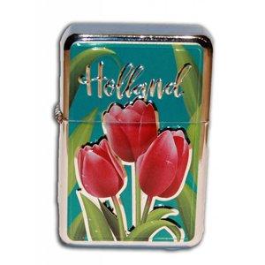Typisch Hollands Zipper-Benzinfeuerzeug Holland Tulpen