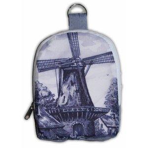 Typisch Hollands Nylon Tas - Opvouwbaar -Delfts blauw