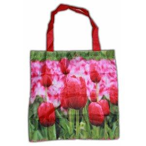 Typisch Hollands Nylon Tas - Opvouwbaar - Tulpen