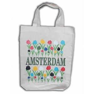 Typisch Hollands Eco Leinenbeutel - Amsterdam - Tulpen