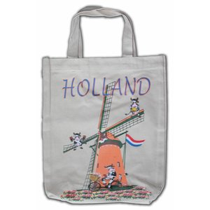Typisch Hollands Eco linnen Draagtas - Holland - Molens