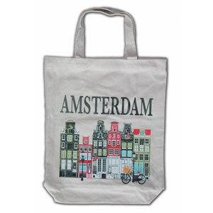 Typisch Hollands Eco linen Tote bag - Amsterdam - Houses
