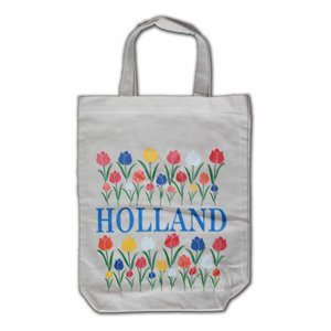 Typisch Hollands Eco Leinentasche - Holland Tulpen