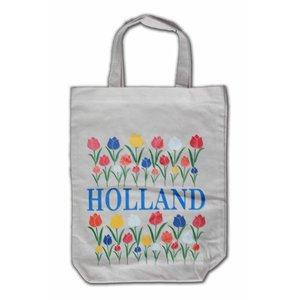 Typisch Hollands Eco linnen Draagtas - Holland Tulpen
