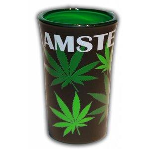 Typisch Hollands Schnapsglas Cannabis - Amsterdam