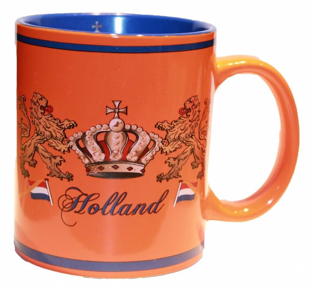 typisch hollands orange kaffeetasse crown typisch hollands souvenirs online shop. Black Bedroom Furniture Sets. Home Design Ideas