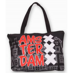 Typisch Hollands Shopper Amsterdam - Black
