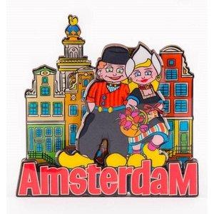 Typisch Hollands Amsterdam Magnet - Paar