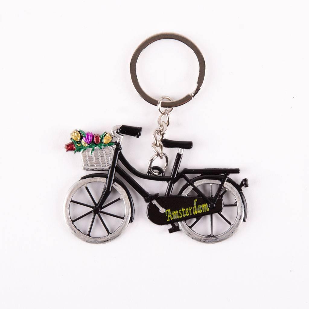 typisch hollands schl sselanh nger fahrrad mit tulpen schwarz typisch hollands souvenirs. Black Bedroom Furniture Sets. Home Design Ideas