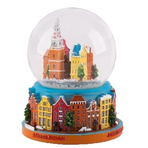 Typisch Hollands Sneeuwschudbol - Amsterdam 10 cm